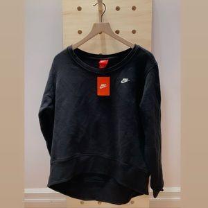 Oversized Nike Black Pullover Sweatshirt